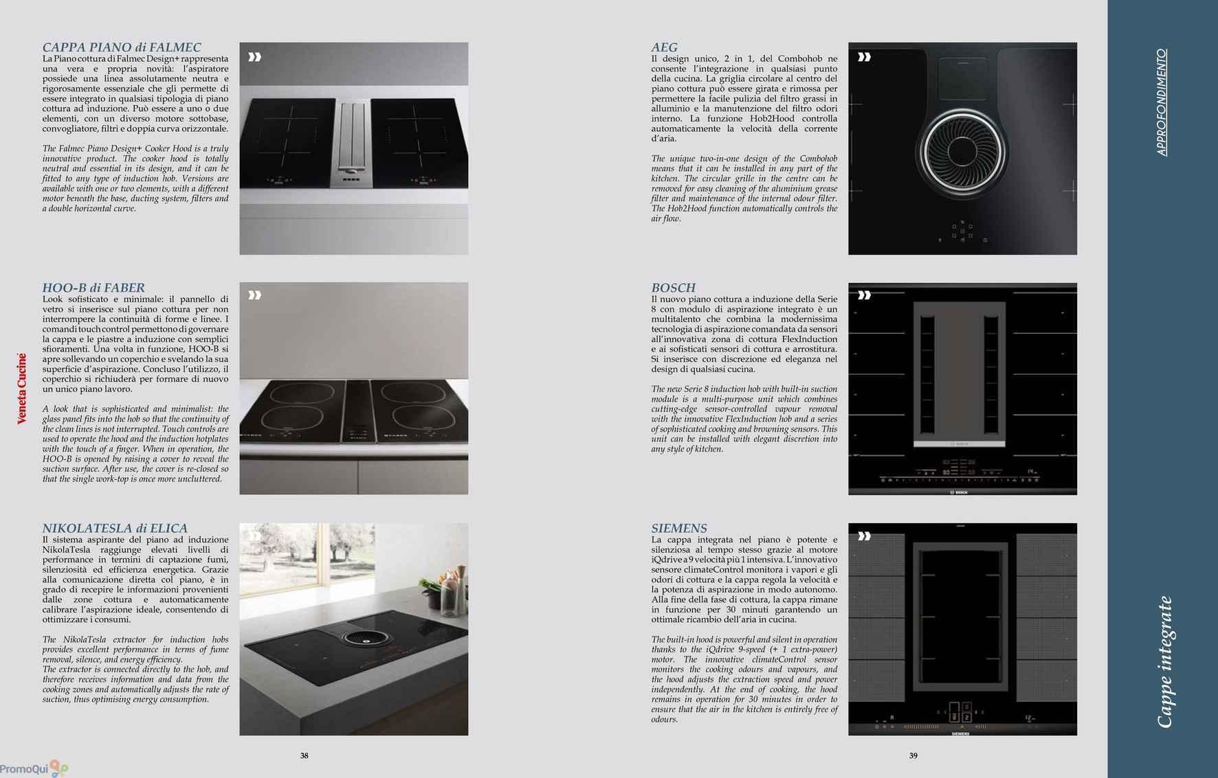 Stunning cappe veneta cucine images for Piano cottura con cappa integrata