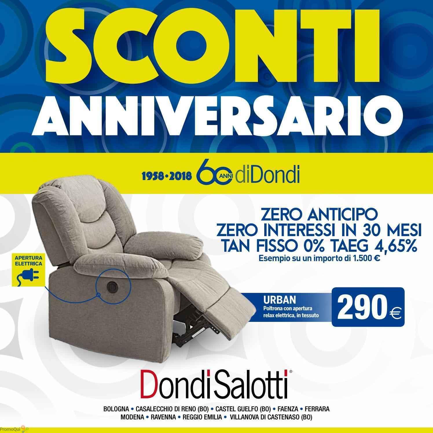 Volantino Dondi Salotti - Sconti anniversario - offerte Arredamento