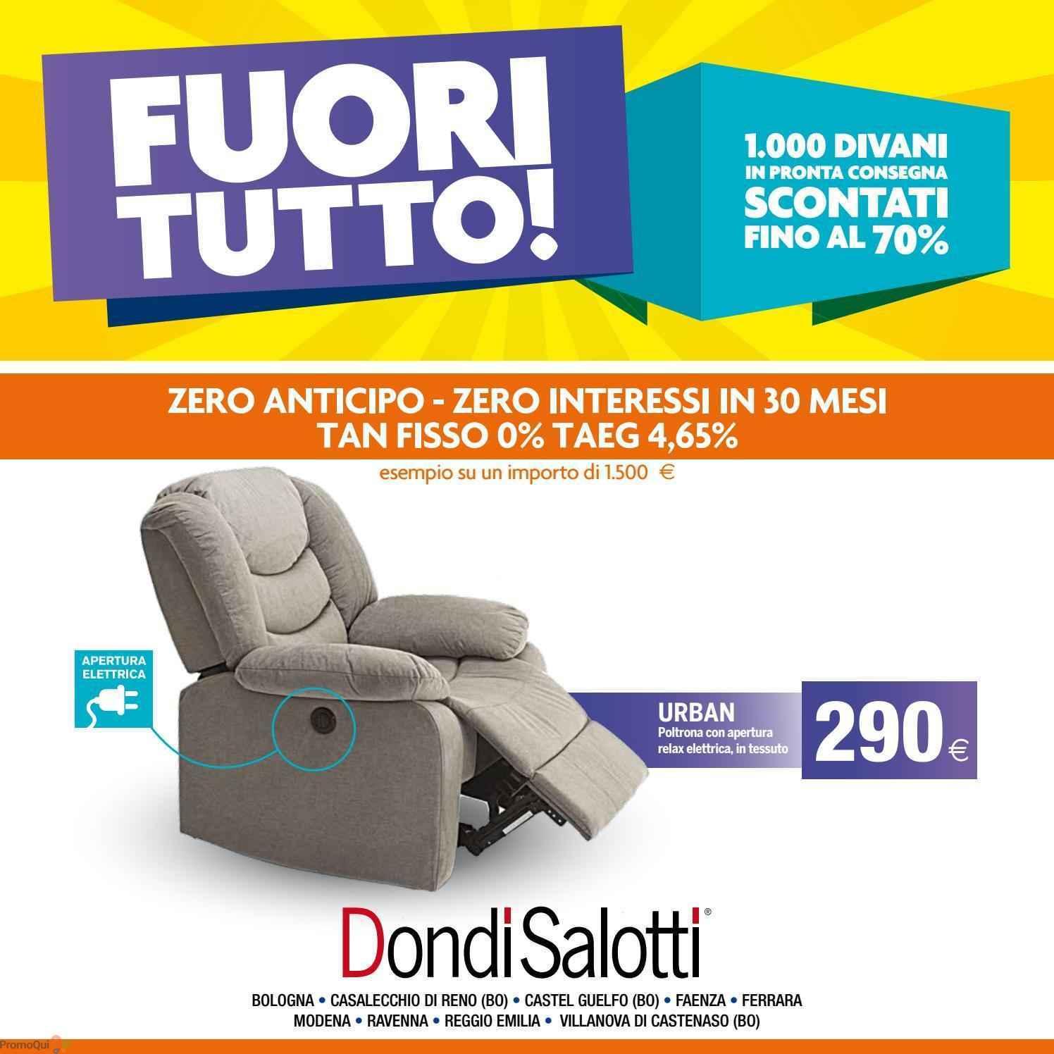 Volantino Dondi Salotti - Fuori tutto! - offerte Arredamento