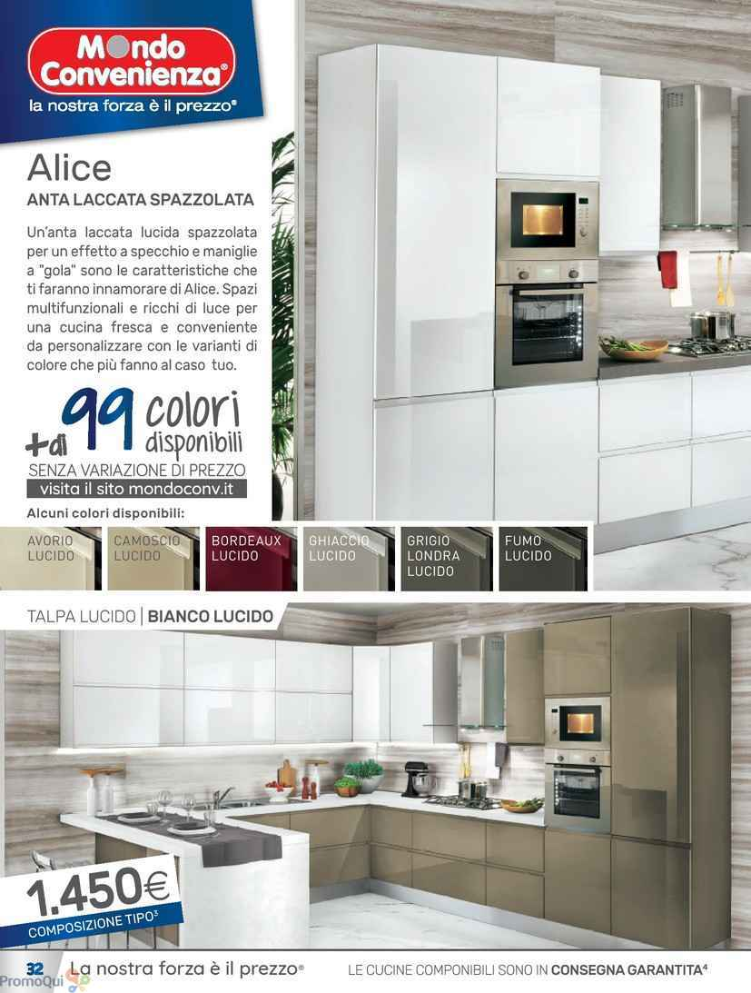 Emejing cucina alice mondo convenienza pictures ideas for Volantino mondo convenienza cucine