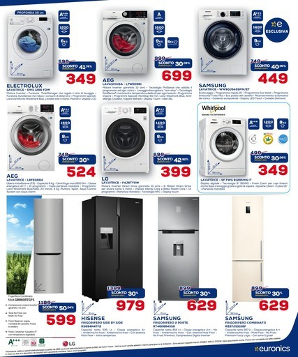 Lavatrici Miele, volantini offerte, prezzi e negozi elettronica ...