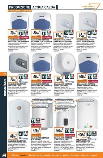 Offerte scaldabagno elettrico nel volantino prezzi negozio promoqui for Scaldabagno elettrico istantaneo prezzi