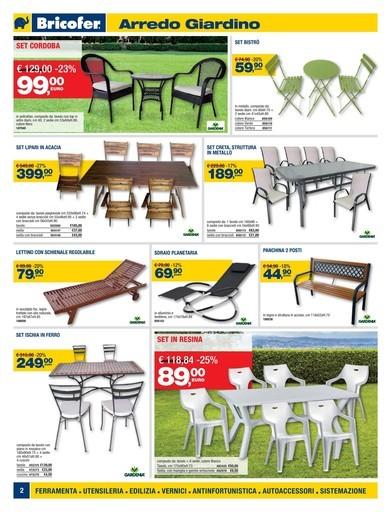 Offerte sedie da giardino nel volantino prezzi negozio for Offerte divanetti da giardino