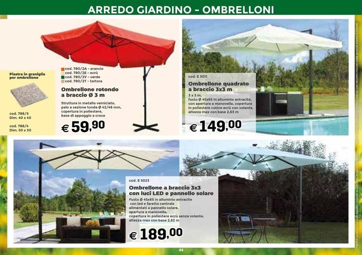 Ombrelloni Da Giardino Bricocenter.Offerte Ombrelloni Da Giardino A Torino Nel Volantino