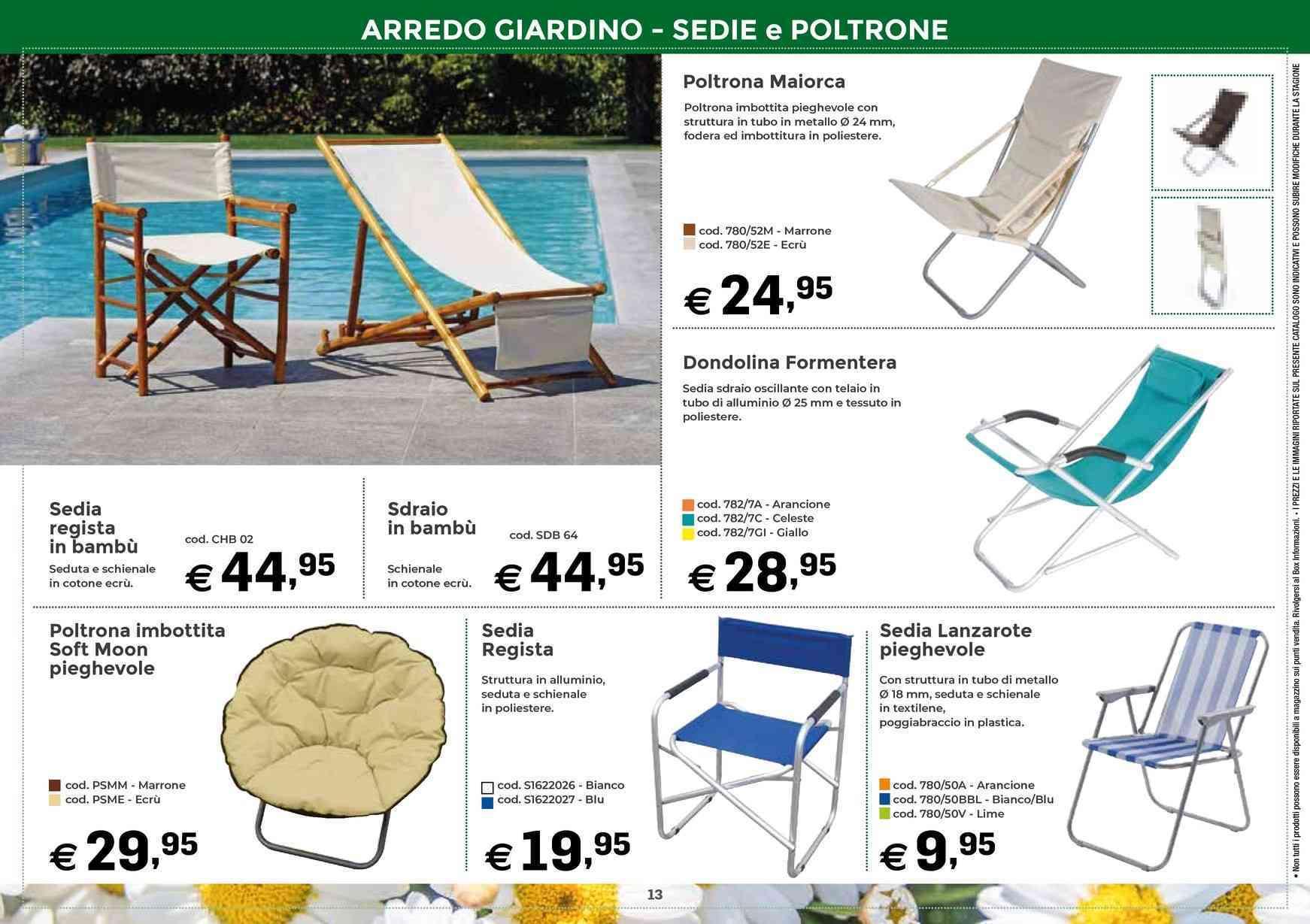 Sedie In Plastica Da Giardino Prezzi.Offerte Sedie Da Giardino Nel Volantino Prezzi Negozio Promoqui