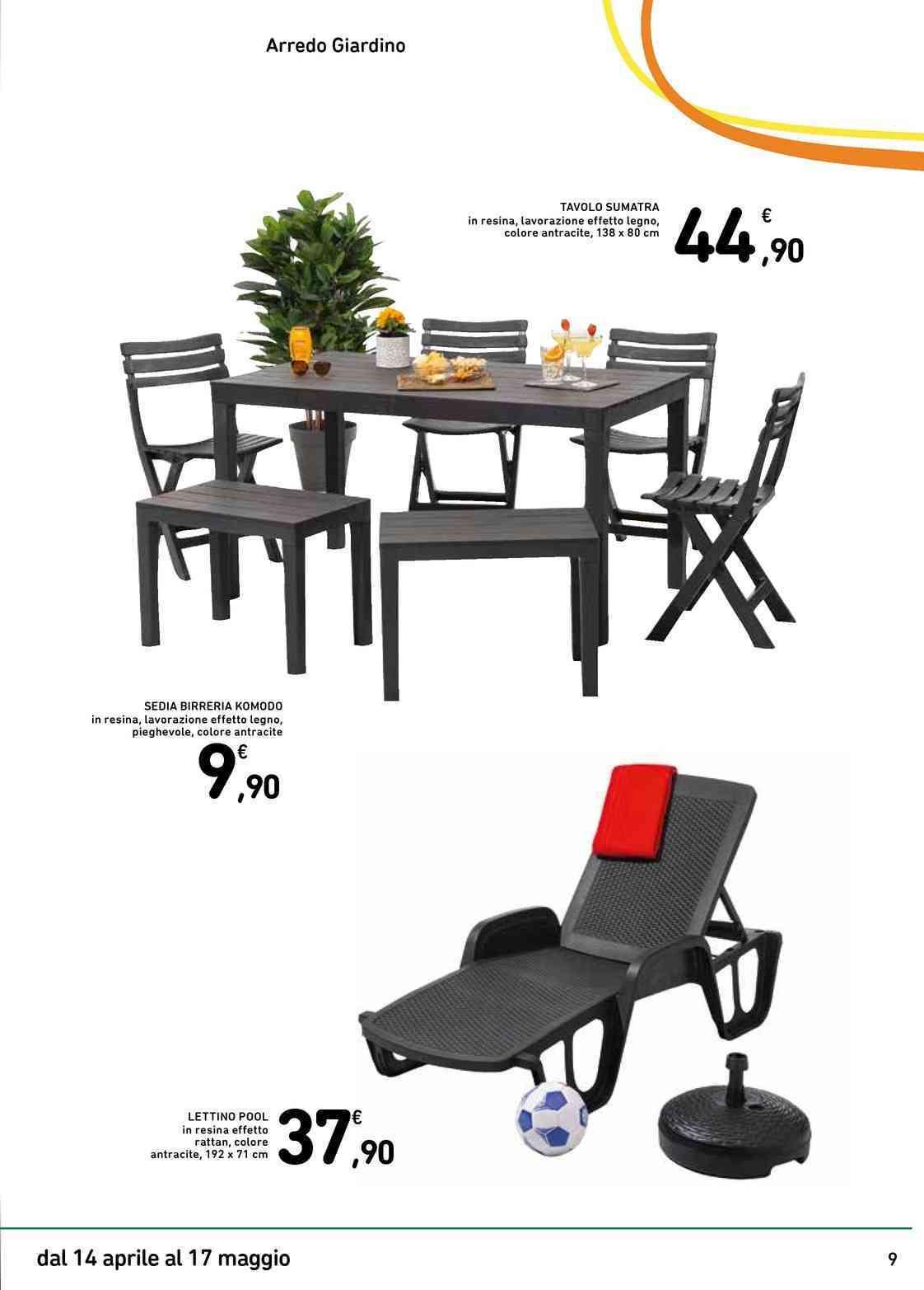 Tavoli Da Esterno Ipercoop.Offerte Tavoli Da Giardino Nel Volantino Prezzi Negozio Promoqui
