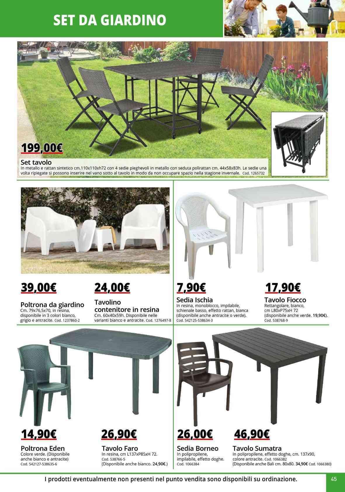Leroy Merlin Mobili Da Balcone offerte tavoli da giardino nel volantino, prezzi negozio