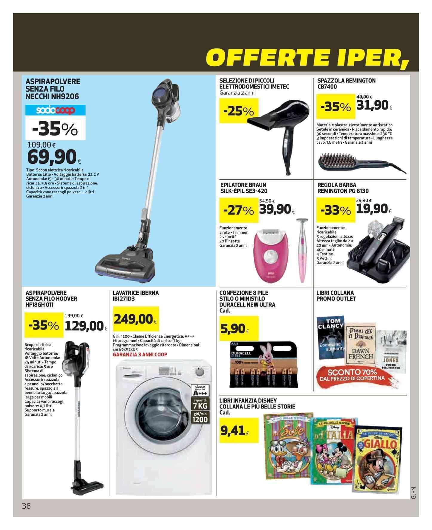 Aspirapolvere Hoover, volantini offerte, prezzi e negozi